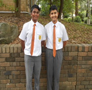 senior boys wearing summer uniform